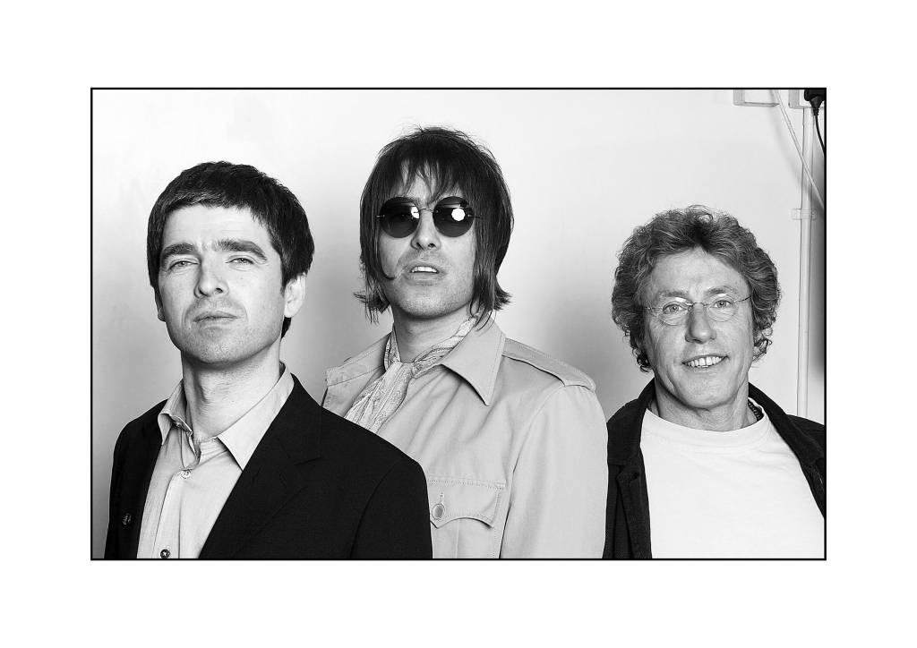 Noel Gallagher, Liam Gallagher and Roger Daltrey