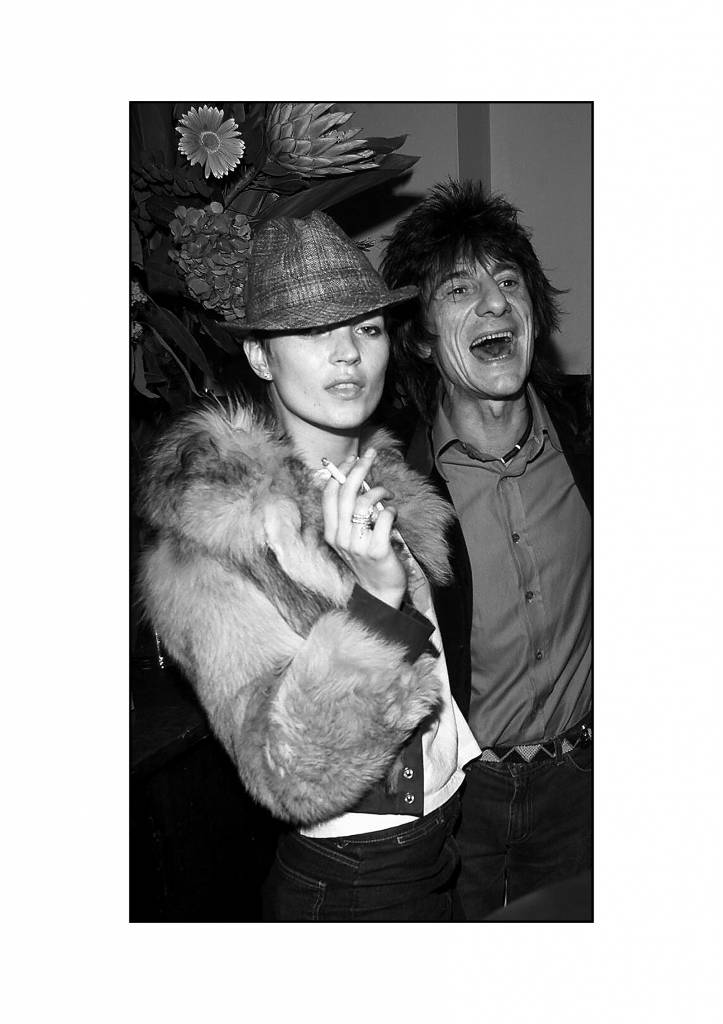 Kate Moss, Ronnie Wood and Leah Wood